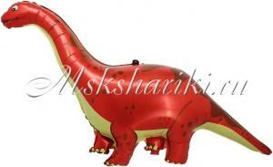Шар (51''/130 см) Фигура, Динозавр Диплодок, Красный