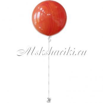"""Большой шар """"Агат красно-оранжевый на атласной ленте"""""""