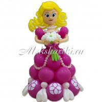 """Фигура из шаров """"Принцесса с цветами"""""""