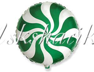 "Фигура фольга 18"" Конфета зеленая/FM"