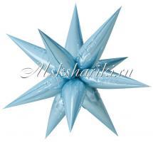 Шар (26''/66 см) Фигура, Звезда составная, Голубой
