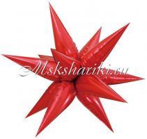 Шар (26''/66 см) Фигура, Звезда составная, Красный