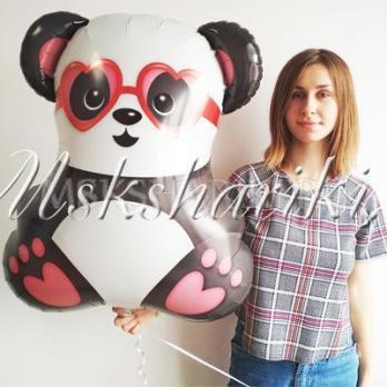 """Фольгированная фигура """"Панда влюбленная"""""""
