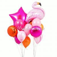 """Букет шаров """"Яркий с Фламинго"""""""
