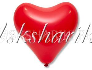 """Шар """"Сердце красное"""""""
