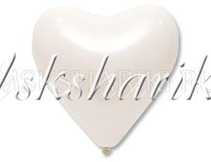 "Шар ""Сердце белое"""