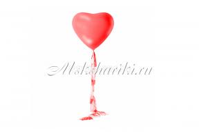"""Большой шар """"Сердце красное на тассел гирлянде """""""