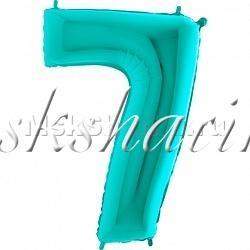 """Шар """"Цифра 7"""" Тифани 102 см"""