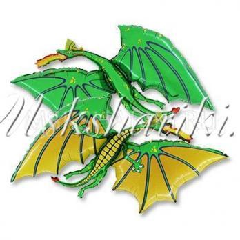 """Фольгированная фигура """"Дракон зеленый"""""""