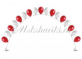 "Цепочка из шаров ""Красно-белые"" цена за метр"