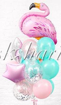"""Букет из шаров """"С фламинго"""""""