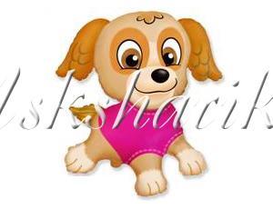Фигура щенок в розовой майке