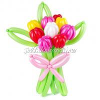 """Цветы из шаров """"Тюльпаны разноцветные"""""""