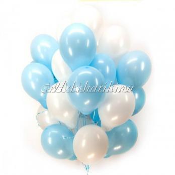 """Облако из шаров """"Бело-голубые""""14дм-36см"""