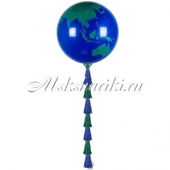 Шелк 3' Земной шар Dark Blue