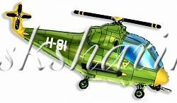 """Фольгированная фигура """"Вертолёт зелёный"""""""