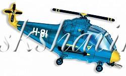 """Фольгированная фигура """"Вертолёт синий"""""""