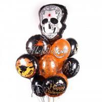 """Букет из шаров """"На хеллоуин с Белым черепом"""""""