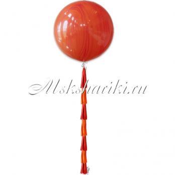 """Большой шар """"Агат красно-оранжевый"""""""
