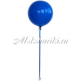 """Большой шар """"Синий на атласной ленте"""""""