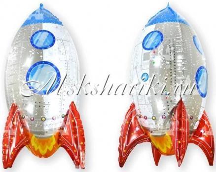 Шар (32''/81 см) Фигура, 3D Ракета