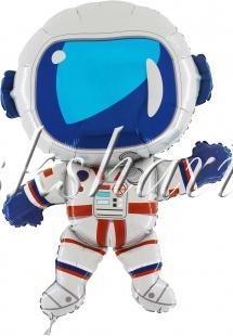 Шар (38''/97 см) Фигура фольга, Космонавт