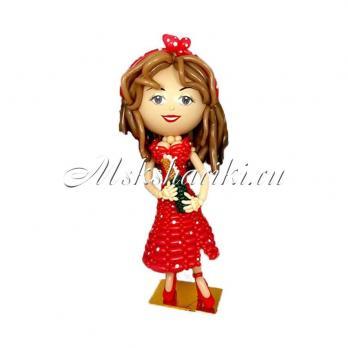"""Фигура из шаров """"Женщина в красном платье"""""""