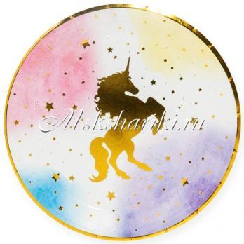 Тарелки (7''/18 см) Звездный Единорог, 6 шт ДБ