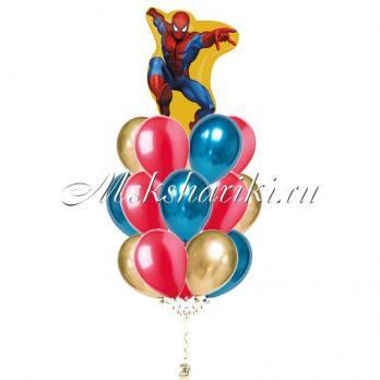 """Букет шаров """"Человек паук в прыжке"""""""