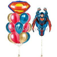 """Готово решение """"Супермен в полёте с шарами """""""