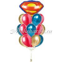 """Букет шаров """"Значок Супермена """""""