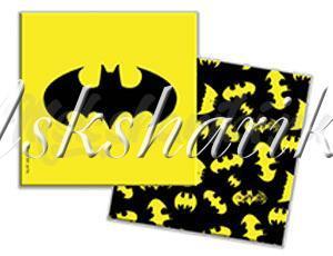 Салфетки Бэтмен желтые 33см 12шт