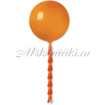 """Большой шар """"Оранжевый на тассел в цвет"""""""