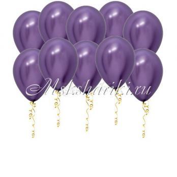 """Шары под потолок """"Фиолетовые хром"""""""