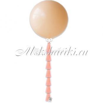 """Большой шар """"Персиковый на тассел в цвет"""""""