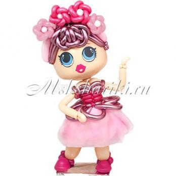 """Фигура из шаров большая """"Кукла в розовом"""""""