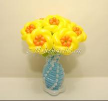 """Корзина с цветами """"желто-оранжевые цветочки"""""""