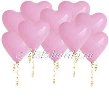 """Шары под потолок """"Сердца розовые"""" 16 дм 45 см"""