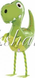 Шар (31''/79 см) Ходячая Фигура, Маленький динозавр, Зеленый