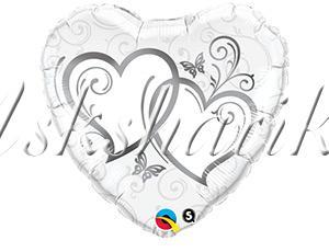 "18"" Сердца переплетенные Silver"
