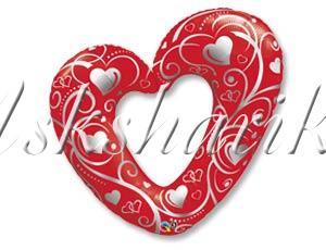 ФИГУРА 5 Сердце Вензель Red