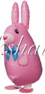 Воздушный шар (25''/64 см) Ходячая Фигура, Кролик, Розовый