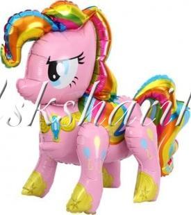 Шар (29''/74 см) Ходячая Фигура, Радужный пони, Розовый