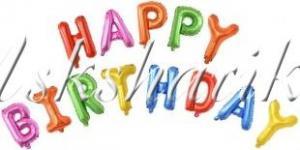 """Набор шаров-букв (16''/41 см) Мини-, Надпись """"Happy Birthday"""", Ассорти"""